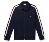 Webbing-trimmed Jersey Track Jacket