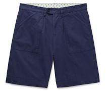 Regata Pleated Garment-Dyed Cotton Shorts