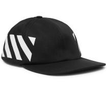 Striped Cotton-twill Baseball Cap - Black