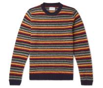 Sigfried Striped Brushed Wool Sweater
