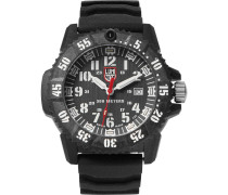 3800 Series 3801 Carbon-reinforced And Rubber Watch - Black