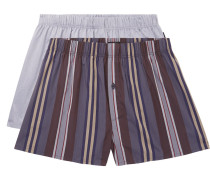 Two-pack Cotton Boxer Shorts - Purple
