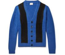 Striped Cashmere Cardigan - Blue