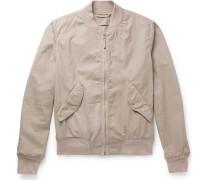Slim-fit Cotton-twill Bomber Jacket