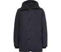 Chateau Shell Hooded Down Parka - Navy