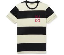 Roy Logo-Detailed Striped Organic Cotton-Jersey T-Shirt