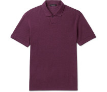 Hemp-piqué Polo Shirt