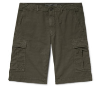 Stretch-Cotton Ripstop Cargo Shorts
