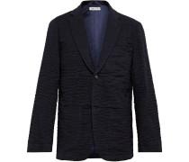 Unstructured Textured-Cotton Blazer