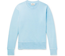 Garment-dyed Loopback Cotton-jersey Sweatshirt - Light blue