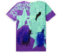 Hand-Painted Woven T-Shirt