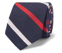5cm Striped Silk and Cotton-Blend Tie