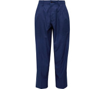 Tapered Pleated Cotton-Twill Suit Trousers