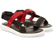 Valentino Garavani Coordinates Grosgrain And Leather Sandals