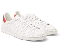 Perforated-logo Leather Sneakers
