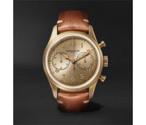 1858 Automatic Chronograph 42mm Bronze and Leather Watch, Ref. No. 118223