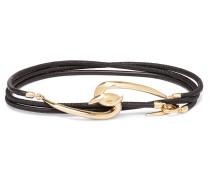 Leather and Gold Vermeil Wrap Bracelet