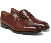 Ernest Cap-toe Polished-leather Derby Shoes