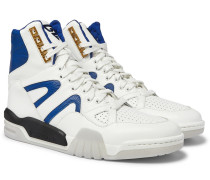 Panelled Leather High-Top Sneakers