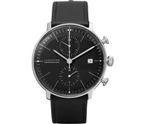 Max Bill Stainless Steel and Leather Chronoscope Watch