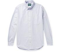 Button-Down Collar Striped Cotton Oxford Shirt