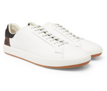 Outline Leather Sneakers - White