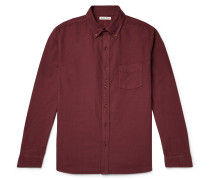Button-Down Collar Overdyed Cotton Oxford Shirt