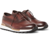 Fast Track Leather Sneakers - Brown