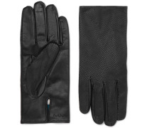 Textured-Leather Gloves