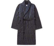 Striped Cotton-Blend Terry Robe
