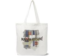 Printed Cotton-canvas Tote Bag