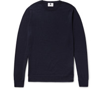 Charles Slim-fit Merino Wool Sweater - Navy