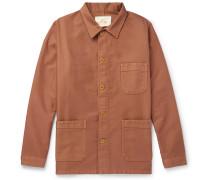 Cotton-moleskin Chore Jacket - Tan