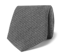 7cm Puppytooth Wool and Silk-Blend Tie