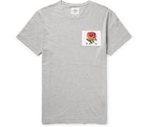 Distressed Appliquéd Cotton-jersey T-shirt