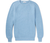 Ribbed Cashmere Sweater - Blue
