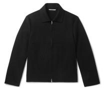 Appliquéd Wool And Cashmere-blend Blouson Jacket