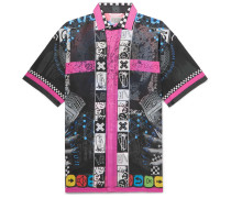 Printed Cotton-voile Shirt - Black