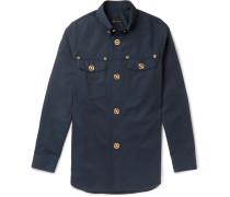 Button-down Collar Cotton-twill Shirt - Navy