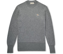 Two-tone Wool Sweater - Gray