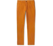 Slim-fit Tapered Stretch-cotton Gabardine Chinos
