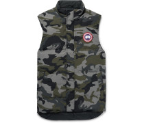 Garson Slim-Fit Camouflage-Print Quilted Arctic Tech Down Gilet