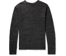 Mélange Alpaca-blend Sweater - Charcoal