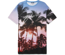 Oversized Printed Cotton-jersey T-shirt - Pink
