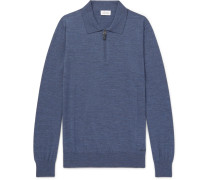 Wool Half-zip Polo Shirt