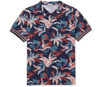Printed Cotton-piqué Polo Shirt