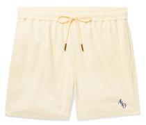 Slim-Fit Logo-Embroidered Nylon Drawstring Shorts