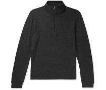 Merino Wool Half-zip Sweater - Charcoal