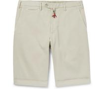 Slim-fit Cotton-blend Twill Bermuda Shorts - Beige