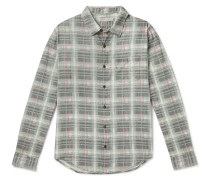 Highline Checked Cotton and Linen-Blend Flannel Shirt